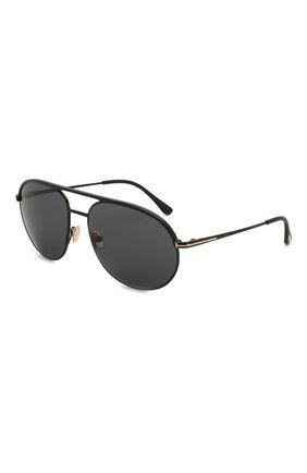 Мужские солнцезащитные очки TOM FORD черного цвета, арт. TF772 | Фото 1