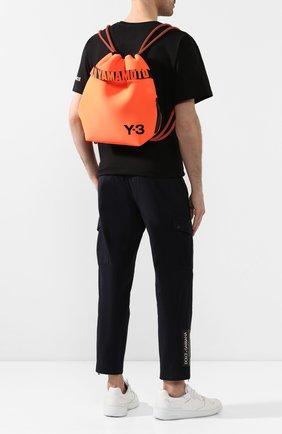 Мужской текстильный рюкзак Y-3 оранжевого цвета, арт. FS2368/M | Фото 2