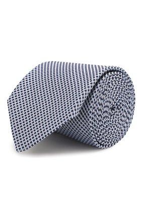 Мужской шелковый галстук BOSS синего цвета, арт. 50434742 | Фото 1