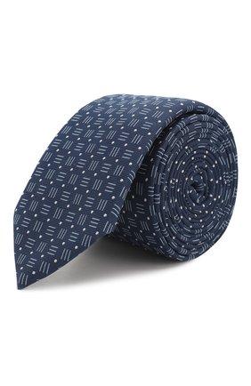 Мужской галстук BOSS темно-синего цвета, арт. 50434855 | Фото 1