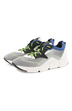 Мужские комбинированные кроссовки VIC MATIE серого цвета, арт. 1X8132U.V04C4ABQ83 | Фото 1