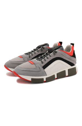 Мужские комбинированные кроссовки VIC MATIE серого цвета, арт. 1X8138U.V04TXETD10 | Фото 1