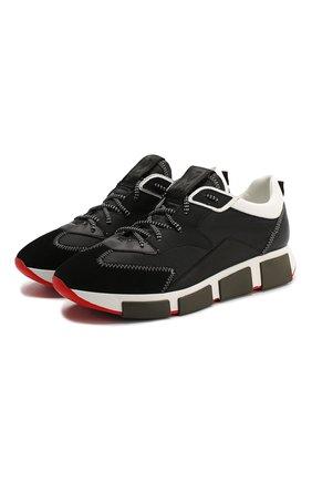 Мужские комбинированные кроссовки VIC MATIE черного цвета, арт. 1X8140U.V04TVWT284 | Фото 1