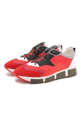 Мужские комбинированные кроссовки VIC MATIE красного цвета, арт. 1X8140U.V04TVWTC54 | Фото 1