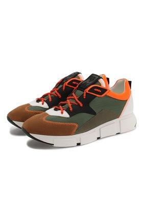 Мужские комбинированные кроссовки VIC MATIE хаки цвета, арт. 1X8140U.V04TVWTD11 | Фото 1