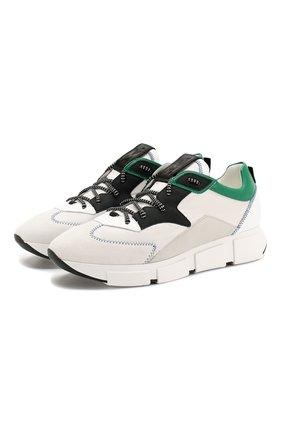 Мужские комбинированные кроссовки VIC MATIE белого цвета, арт. 1X8140U.V04TVWTD12 | Фото 1