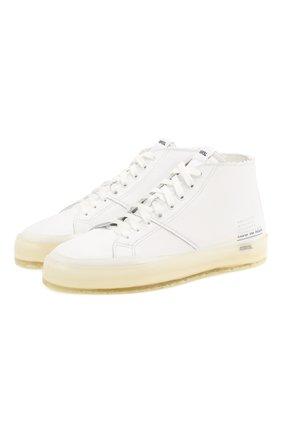 Мужские кожаные кеды RBRSL белого цвета, арт. 7X2131U.U50CWJB015 | Фото 1