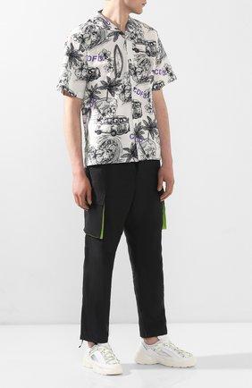 Мужские комбинированные кроссовки RBRSL белого цвета, арт. 7X2162U.V70TX9T175 | Фото 2