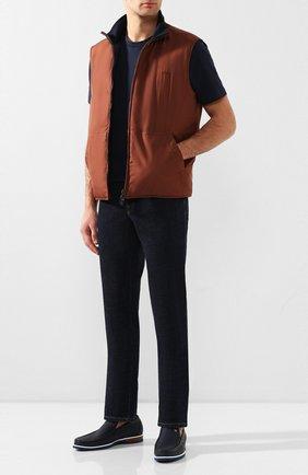Мужские кожаные лоферы ZILLI синего цвета, арт. MDT-M047/007/12-15 | Фото 2