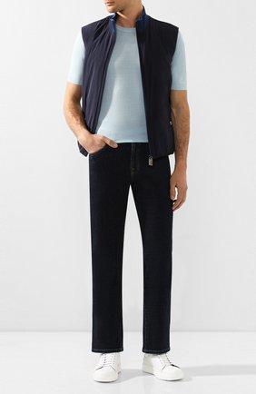 Мужские кожаные кеды ZILLI белого цвета, арт. MDT-N002/001 | Фото 2