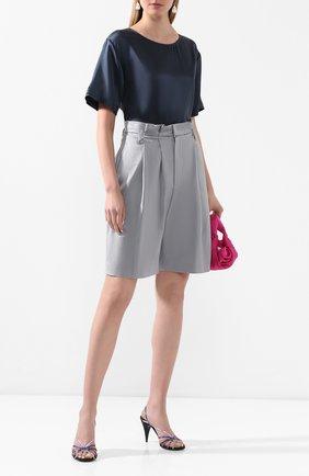 Женская шелковая блузка GIORGIO ARMANI синего цвета, арт. 0SHCCZ20/TZ487 | Фото 2