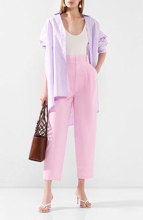 Женские брюки из смеси хлопка и льна J BRAND розового цвета, арт. JB002755 | Фото 2