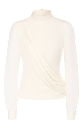 Женская шелковая блузка MICHAEL MICHAEL KORS белого цвета, арт. MH94LZ6B06 | Фото 1