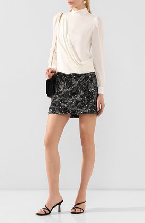 Женская шелковая блузка MICHAEL MICHAEL KORS белого цвета, арт. MH94LZ6B06 | Фото 2