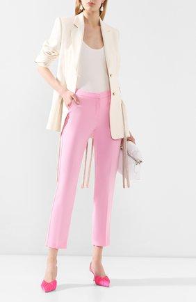 Женские брюки ERMANNO ERMANNO SCERVINO розового цвета, арт. 46T PL07 GIS   Фото 2