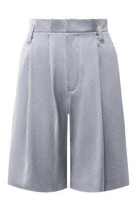 Женские шорты из смеси вискозы и хлопка BRUNELLO CUCINELLI голубого цвета, арт. M0H86P7265 | Фото 1