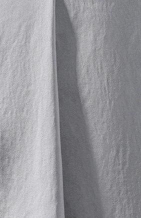Женские шорты из смеси вискозы и хлопка BRUNELLO CUCINELLI голубого цвета, арт. M0H86P7265   Фото 5 (Женское Кросс-КТ: Шорты-одежда; Длина Ж (юбки, платья, шорты): Мини; Кросс-КТ: Широкие; Материал внешний: Хлопок, Вискоза; Стили: Классический, Минимализм, Кэжуэл)