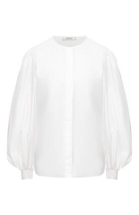 Женская хлопковая рубашка DOROTHEE SCHUMACHER белого цвета, арт. 748202/P0PLIN P0WER | Фото 1