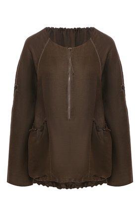 Женская блузка из смеси вискозы и льна RUBAN коричневого цвета, арт. RРS20 - 9.1.54.16 | Фото 1