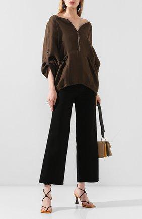 Женская блузка из смеси вискозы и льна RUBAN коричневого цвета, арт. RРS20 - 9.1.54.16 | Фото 2