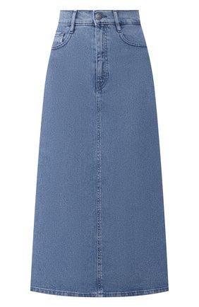 Женская джинсовая юбка BOSS синего цвета, арт. 50434539 | Фото 1