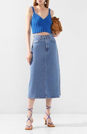 Женская джинсовая юбка BOSS синего цвета, арт. 50434539 | Фото 2