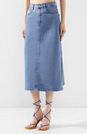 Женская джинсовая юбка BOSS синего цвета, арт. 50434539 | Фото 3
