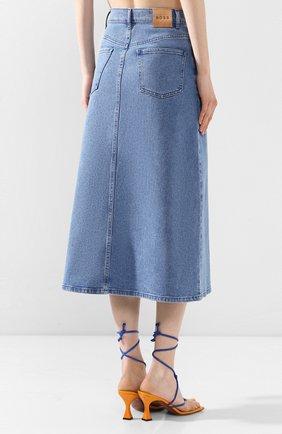 Женская джинсовая юбка BOSS синего цвета, арт. 50434539 | Фото 4