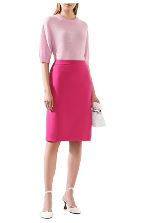 Женская шерстяная юбка BOSS фуксия цвета, арт. 50432874 | Фото 2