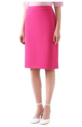 Женская шерстяная юбка BOSS фуксия цвета, арт. 50432874 | Фото 3