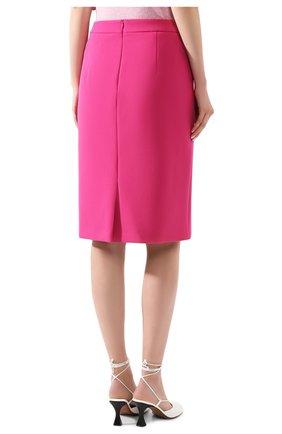 Женская шерстяная юбка BOSS фуксия цвета, арт. 50432874 | Фото 4