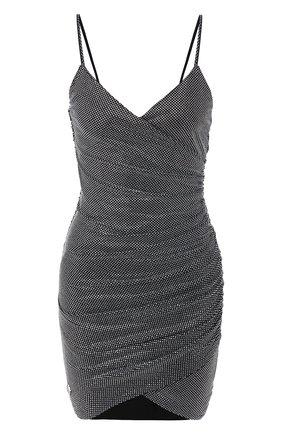 Женское мини-платье PHILIPP PLEIN серебряного цвета, арт. P20C WRG1462 PTE003N | Фото 1