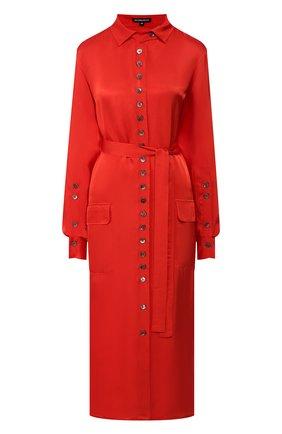 Женское платье с поясом ANN DEMEULEMEESTER красного цвета, арт. 2001-2214-P-138-039   Фото 1