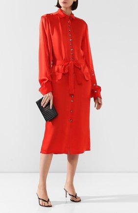 Женское платье с поясом ANN DEMEULEMEESTER красного цвета, арт. 2001-2214-P-138-039   Фото 2