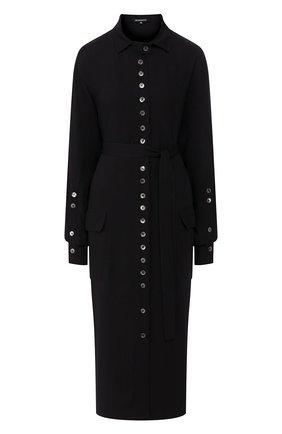 Женское платье из вискозы ANN DEMEULEMEESTER черного цвета, арт. 2001-2214-P-155-099   Фото 1