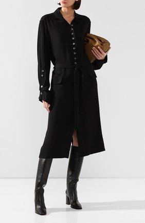 Женское платье из вискозы ANN DEMEULEMEESTER черного цвета, арт. 2001-2214-P-155-099   Фото 2