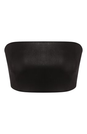 Женская кожаный топ JITROIS черного цвета, арт. BANDEAU BUSTIER C0URT APS | Фото 1