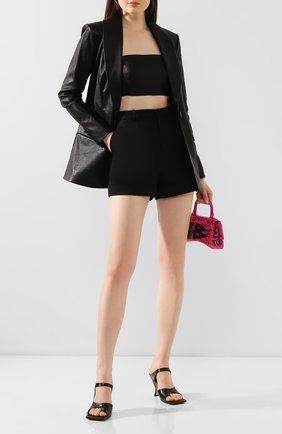 Женская кожаный топ JITROIS черного цвета, арт. BANDEAU BUSTIER C0URT APS | Фото 2