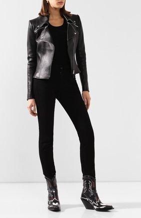Женская кожаная куртка JITROIS черного цвета, арт. BL0US0N LAZA APS EPAIS | Фото 2