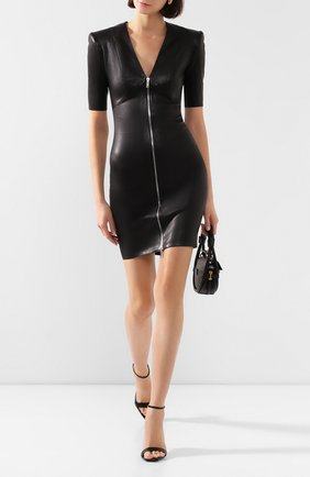 Женское кожаное платье JITROIS черного цвета, арт. R0BE VEGA FEM APS MC | Фото 2