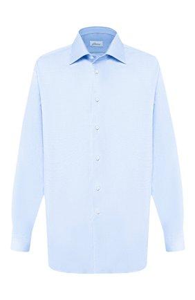Мужская хлопковая сорочка BRIONI светло-голубого цвета, арт. RCL42G/PZ023 | Фото 1