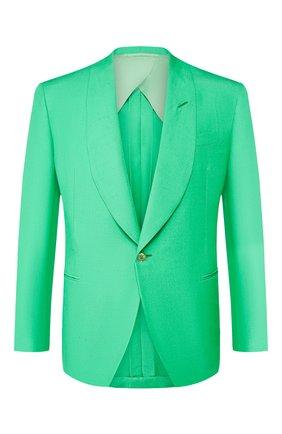Мужской шелковый пиджак RALPH LAUREN зеленого цвета, арт. 798794568 | Фото 1