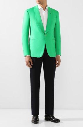 Мужской шелковый пиджак RALPH LAUREN зеленого цвета, арт. 798794568 | Фото 2