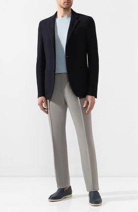 Мужские шерстяные брюки RALPH LAUREN серого цвета, арт. 798797783 | Фото 2 (Длина (брюки, джинсы): Стандартные; Материал подклада: Вискоза; Материал внешний: Шерсть; Случай: Формальный, Повседневный; Стили: Классический)