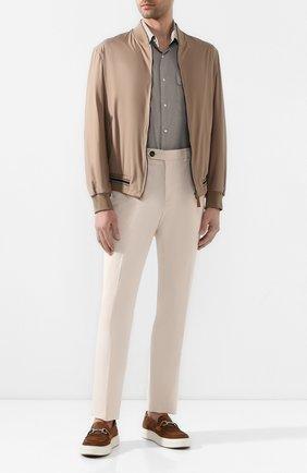 Мужская рубашка из смеси шерсти и шелка RALPH LAUREN серого цвета, арт. 791798504 | Фото 2