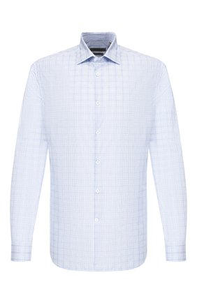 Мужская хлопковая сорочка CORNELIANI голубого цвета, арт. 85P010-0111154/00 | Фото 1