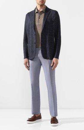 Мужской шерстяные брюки BERWICH синего цвета, арт. SC/1 ALC/MZ1506 | Фото 2