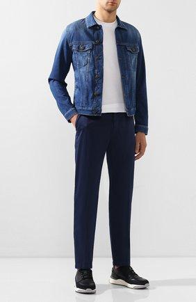 Мужской хлопковые брюки BERWICH темно-синего цвета, арт. VULCAN0/MX011X | Фото 2