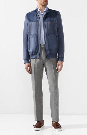 Мужская хлопковая сорочка ETON голубого цвета, арт. 3405 79511 | Фото 2