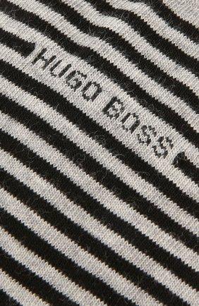 Мужские хлопковые носки BOSS серого цвета, арт. 50392525   Фото 2
